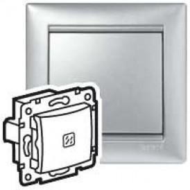 Переключатель промежуточный с подсветкой (алюм) | 770148 | Legrand