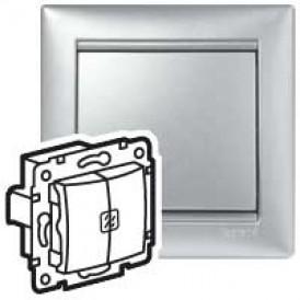 Переключатель с подстветкой на 2 направления. алюм Valena | 770212 | Legrand