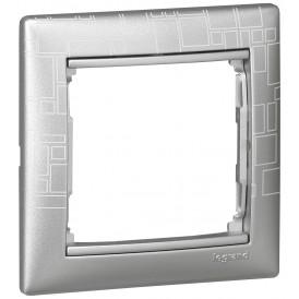 Рамка - Valena - 1 пост - алюминий модерн   770341   Legrand