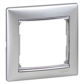 Рамка - Valena - 1 пост -алюминий/серебряный штрих | 770351 | Legrand