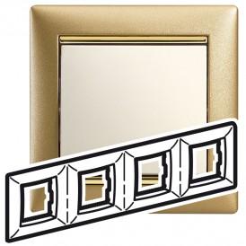Рамка - Valena - 4 поста - матовое золото | 770304 | Legrand