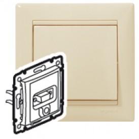Розетка HD 15 + гнездо диам. 3,5 мм - Valena - белый | 770082 | Legrand