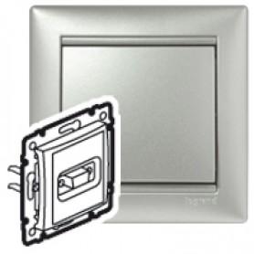 Розетка HD 15 для видеоустройств - Valena - алюминий | 770283 | Legrand