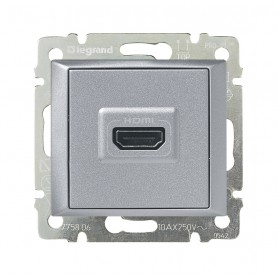 Розетка HDMI для аудио/видеоустройств - Valena - алюминий | 770285 | Legrand