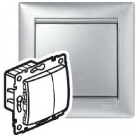 Светорегулятор 2-кнопочный (вкл./выкл. и +/-) 400Вт. Valena(Алюм) | 770262 | Legrand