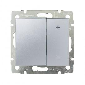 Светорегулятор поворотный 600Вт Legrand Valena 770274 алюминий