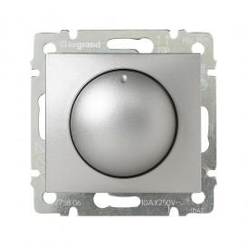 Светорегулятор поворотный 400Вт Legrand Valena 770261 алюминий