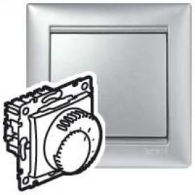 Термостат - Valena - комфорт с выключателем - алюминий | 770227 | Legrand