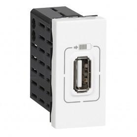 Розетка USB для зарядки одинарная белый  | 077591 | Legrand