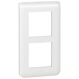 Рамка 2х2 модуля вертикальная Legrand Mosaic 078854 белая