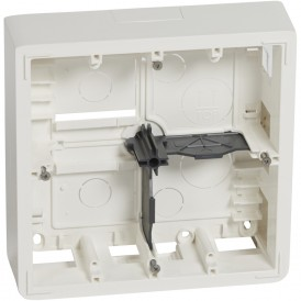 Коробка 1 пост для накладного монтажа 2х4/5м в.50мм Legrand Mosaic 080274 белая