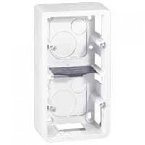 Коробка для накладного монтажа 2х2 модуля вертикальная Legrand Mosaic 080282 белая