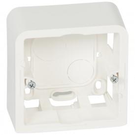 Коробка для накладного монтажа 2 модуля Legrand Mosaic 080281 белая
