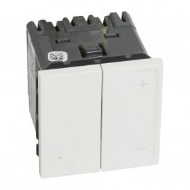 Светорегулятор-приемник (радио) без N, 1 канал 8-300 Вт Legrand Mosaic 074687 белая