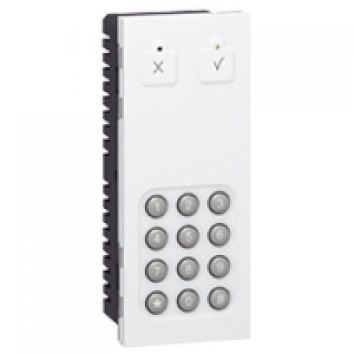 Автономная кодовая панель с возможностью интеграции в общую систему безопасности - Программа Mosaic - 5 модулей - белая | 076701 | Legrand
