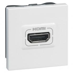 Аудио- и видеорозетка - Программа Mosaic - HDMI - 2 модуля - белый | 078768 | Legrand