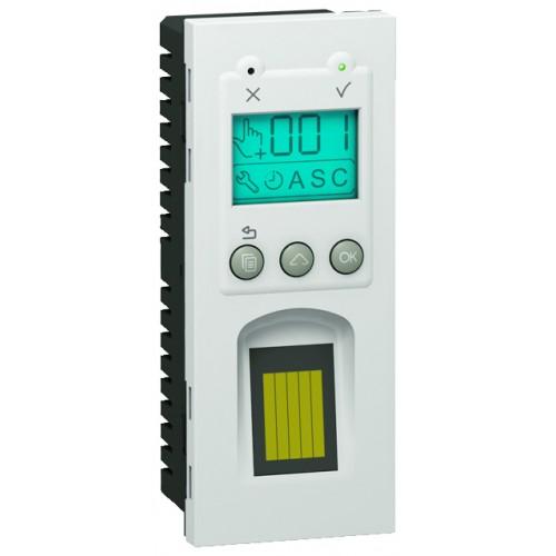 Биометрический считыватель отпечатков пальцев - Программа Mosaic - в автономном режиме или в паре с Кат. № 0 767 06   076703   Legrand
