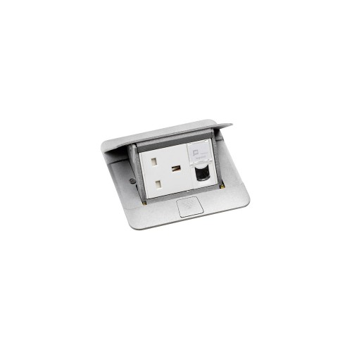 Выдвижной розеточный блок неукомплект. 3мод. алюминий 0 | 054010 | Legrand