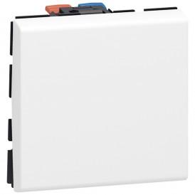Выключатель 1-кл. 2 модуля Legrand Mosaic 077010 белый
