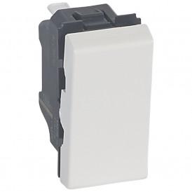 Выключатель кнопочный 1 модуль Legrand Mosaic 078714 белый