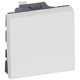 Выключатель кнопочный 2 модуля Legrand Mosaic 078715 белый