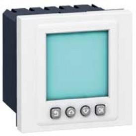Выключатель с таймером программируемый - Программа Mosaic - 2 модуля - белый | 078425 | Legrand