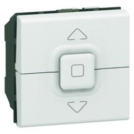 Выключатель управления приводом Legrand Mosaic 077026 белый