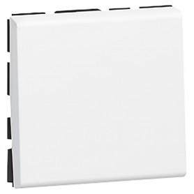 Выключатель кнопочный 2 модуля Legrand Mosaic 077040 белый