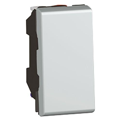 Выключатель кнопочный 1 модуль 2 модуля Legrand Mosaic 079230 алюминий