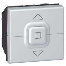 Выключатель управления приводами кнопочный Legrand Mosaic 079225 алюминий