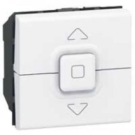 Кнопочный выключатель управления приводами - Программа Mosaic - 2 модуля - белый | 077025 | Legrand