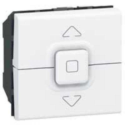 Выключатель управления приводами кнопочный Legrand Mosaic 077025 белый
