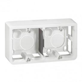 Коробка для накладного монтажа 2х2 модуля Legrand Mosaic 080285 белая