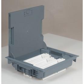 Коробка напольная сер.18м гор. 75-105мм | 089611 | Legrand