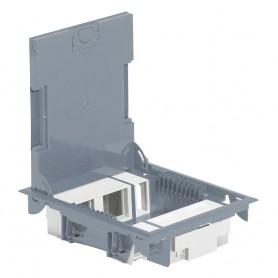 Коробка напольная серая 10 модулей вертикальная для H=65 мм /Крышка Из Нерж. | 089620 | Legrand