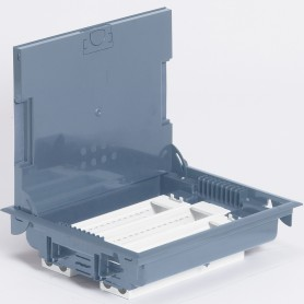Коробка напольная серая 24М гор.75-105мм | 089616 | Legrand