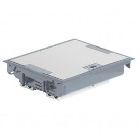 Лючок напольный 24 модуля Legrand Mosaic 089615 серый