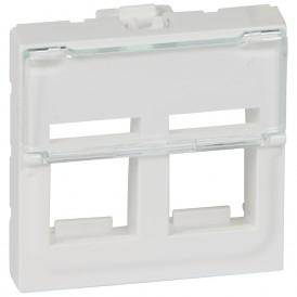 Лицевая панель для информационных розеток - Программа Mosaic - для 2 коннекторов формата Keystone - 2 модуля - белый | 078610 | Legrand