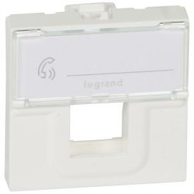 Лицевая панель для информационных розеток - Программа Mosaic - для коннектора формата Keystone - 2 модуля - белый | 078604 | Legrand