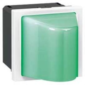 Малое световое табло с подсветкой зеленым светодиодом - Программа Mosaic - 230 В - 2 модуля | 078572 | Legrand