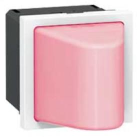 Малое световое табло с подсветкой красным светодиодом - Программа Mosaic - 230 В - 2 модуля | 078570 | Legrand
