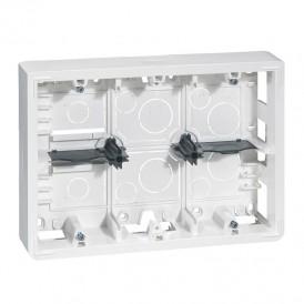 Накладная монтажная коробка - Программа Mosaic - для суппорта Кат. № 0 802 66 - глубина 50 мм- 2x6/2x8/2x3x2 модуля | 080276 | Legrand