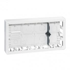 Накладная монтажная коробка - Программа Mosaic - для суппорта Кат. № 0 802 68 - глубина 50 мм - 2x10 модуля | 080278 | Legrand