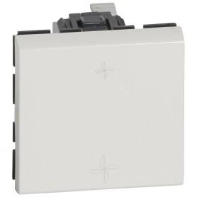 Переключатель на 2 направления - Программа Mosaic - для управления вентиляцией - 2 модуля - 10 AX - белый | 077027 | Legrand