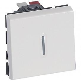 Переключатель 1 модуль с подсветкой Legrand Mosaic 078716 белый