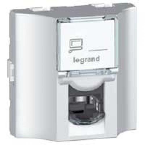 Розетка RJ45 оптоволоконная кат.5e FTP Legrand Mosaic 078625 алюминий