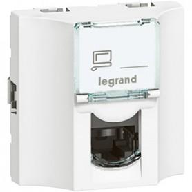 Проходная розетка - Программа Mosaic - категория 6 - UTP - 8 контактов - 2 модуля - белый - LCS² | 078622 | Legrand