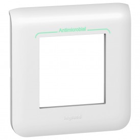 Рамка 2 модуля антибактериальная Legrand Mosaic 078722 белый