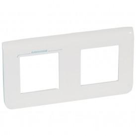 Рамка 2х2 модуля горизонтальная Legrand Mosaic 078725 белая