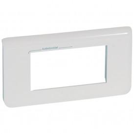 Рамка 4 модуля горизонтальная Legrand Mosaic 078724 белая